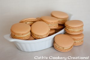 Salted Caramel Macarons from Cath's Cookery Creations! | www.cathscookerycreations.com