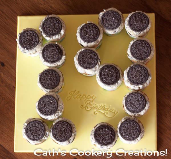 number 19 cookies birthday