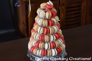 Macaron Tower from Cath's Cookery Creations! | www.cathscookerycreations.com