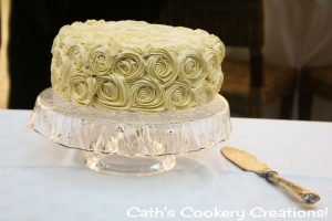 My Best Friends Wedding Cake from Cath's Cookery Creations!   www.cathscookerycreations.com