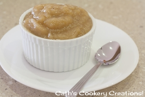 Spiced Apple Sauce from Cath's Cookery Creations!   www.cathscookerycreations.com