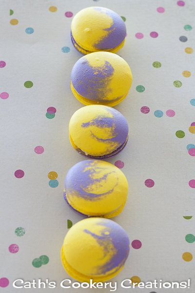 Popping Passionfruit Macarons from Cath's Cookery Creations! | www.cathscookerycreations.com