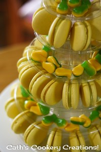 Pineapple Lolly Macarons from Cath's Cookery Creations! | www.cathscookerycreations.com