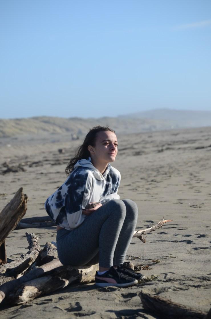 Meg at the ocean