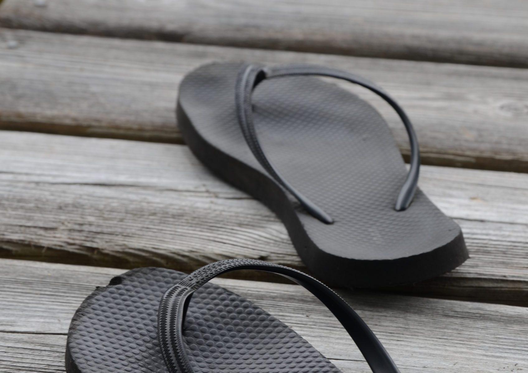 Flip flops on dock