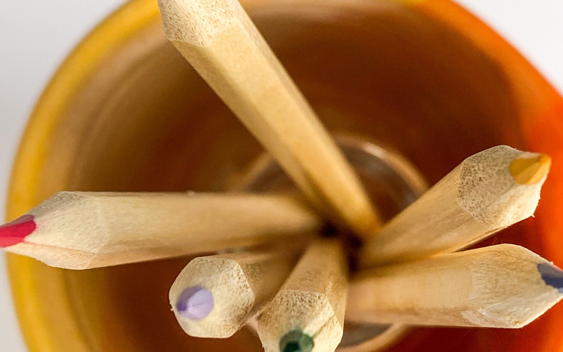 Pencils in Orange Mug - Editing Tools