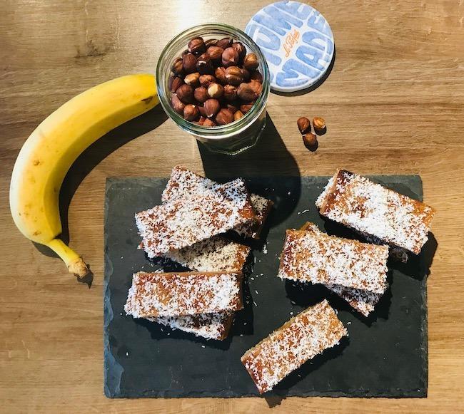 barres de céréales banane coco noisette