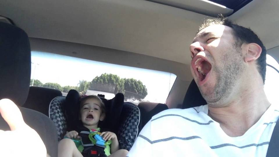 Dad Singing Like a Rockstar!