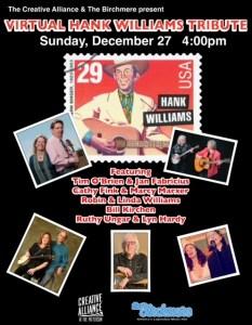 Hank Williams Tribute w/Robin & Linda Williams, Bill Kirchen, Tim O'Brien & Jan Fabricius, Ruthy Ungar & Lyn Hardy @ Virtual Creative Alliance | Baltimore | Maryland | United States