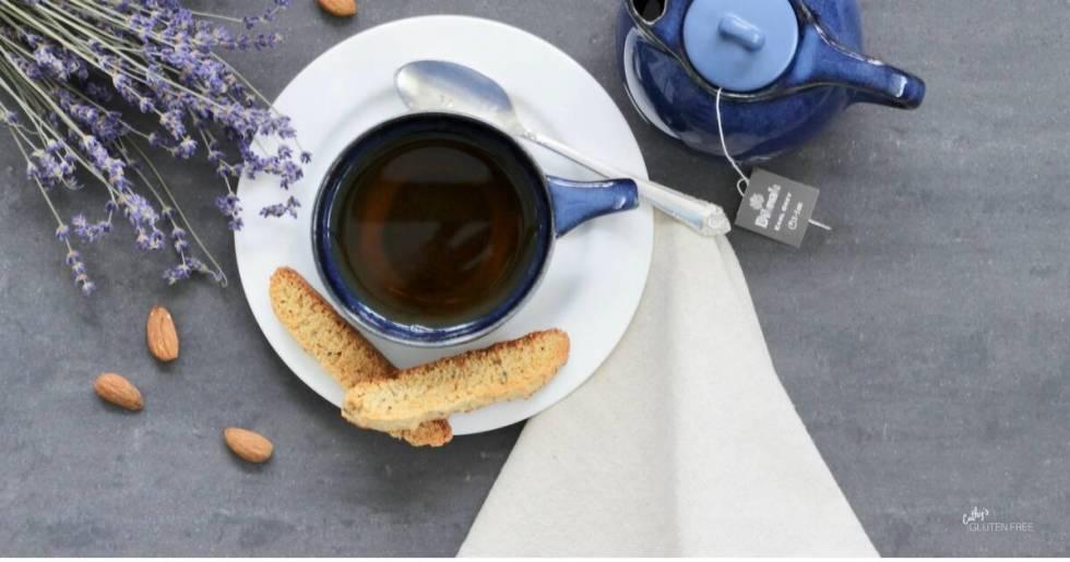 Gluten free Lavender Biscotti | Dairy free | Grain free CathysGlutenFree.com
