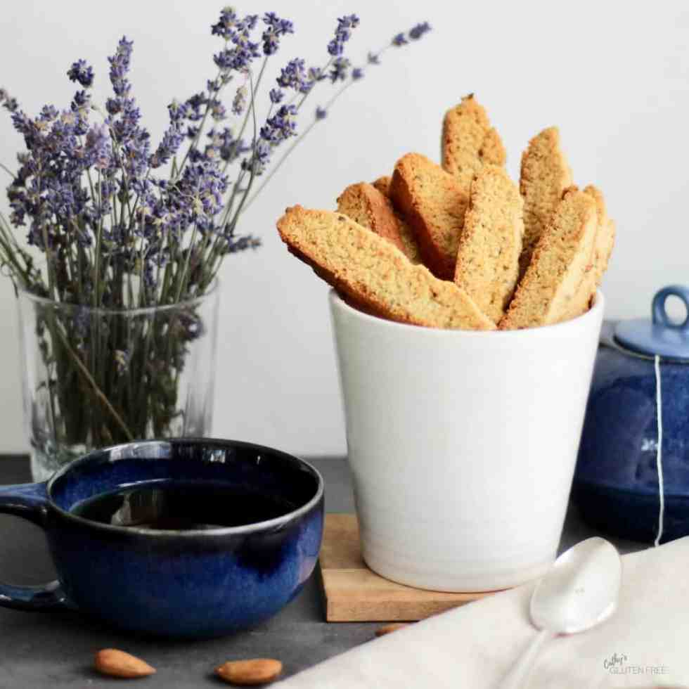 Gluten free Lavender Biscotti | Dairy free