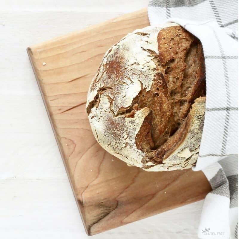 Gluten Free Artisanal Round Loaf CathysGlutenFree.com