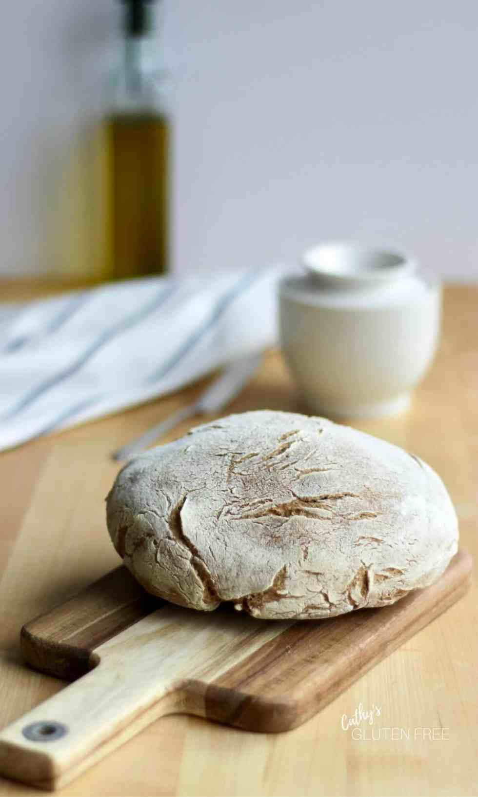 Gluten Free Crusty Bread Recipe | CathysGlutenFree.com