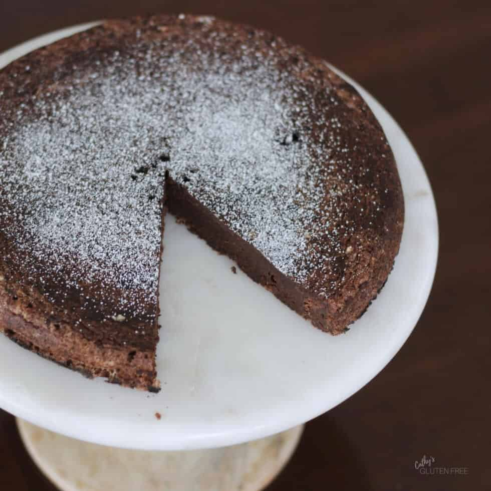 Unsweetened Flourless Chocolate Cake