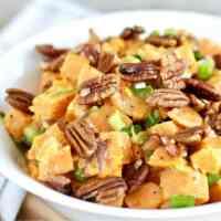 Creamy Sweet Potato Salad with Bacon [Paleo]