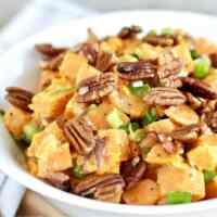 Creamy Sweet Potato Salad with Bacon [Paleo]