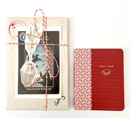 wrapped book and book journal