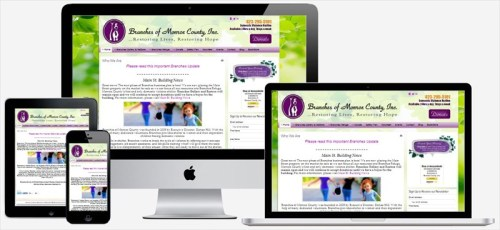 This site was developed for Branches of Monroe County, a ministry helping women and child in crisis fleeing violent situations. This site features a event calendar and fundraising avenues such as books sales and online donation processing.