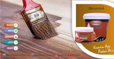 Produk wood stain Biovarnish water based