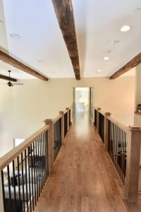 custom catwalk wood floors and wood beams
