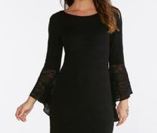 Plus Size Pointelle Sweater Dress