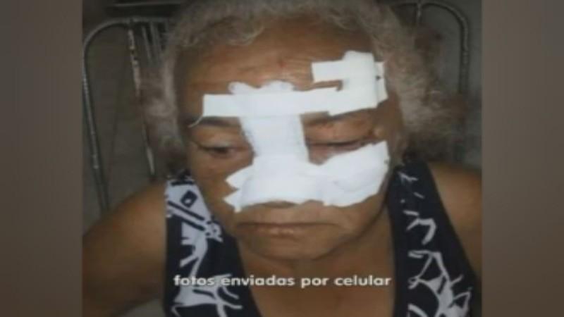 video cameras registra idosa com problemas mentais sendo agredida em bar no sertao assista