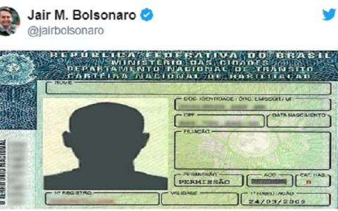 preco da cnh e reduzido em aproximadamente 300 reais afirma bolsonaro