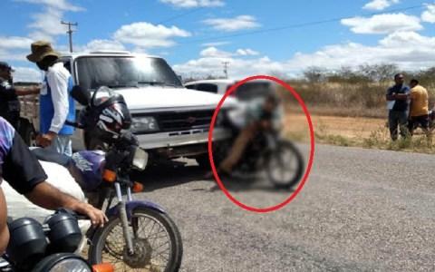 apos colisao violenta com uma d 20 idoso morre em cima da moto em caraubas