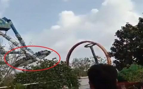 brinquedo de parque se rompe em pleno ar e duas pessoas morrem video