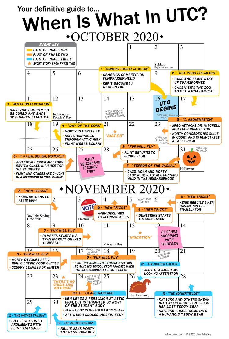 UTC Continuity Calendar (Oct.-Nov.)