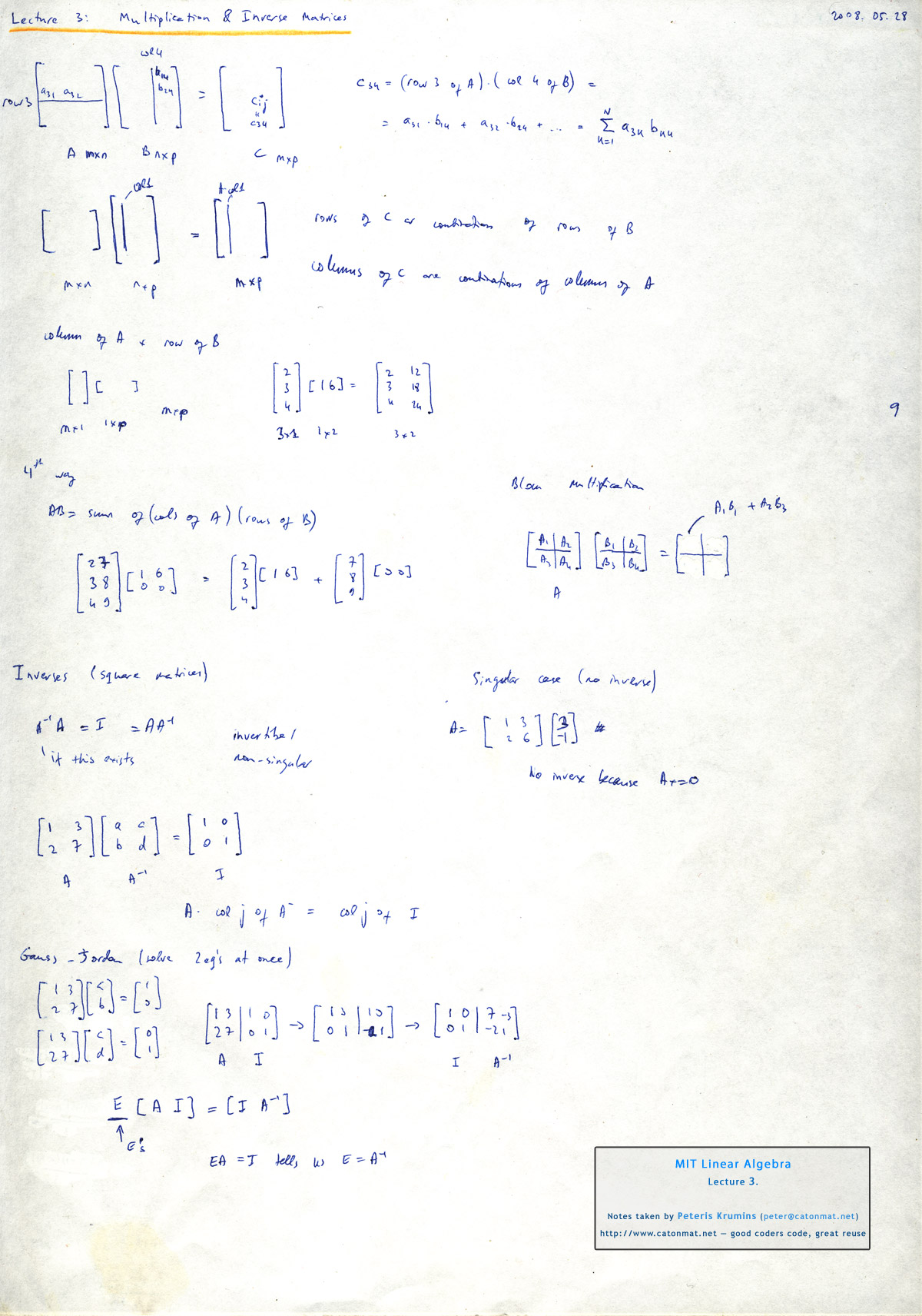 Solve System Of Linear Equations By Using Multiplicative