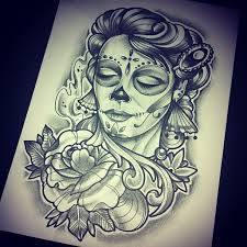 catrinas,diseños,bocetos,tatuajes (38)