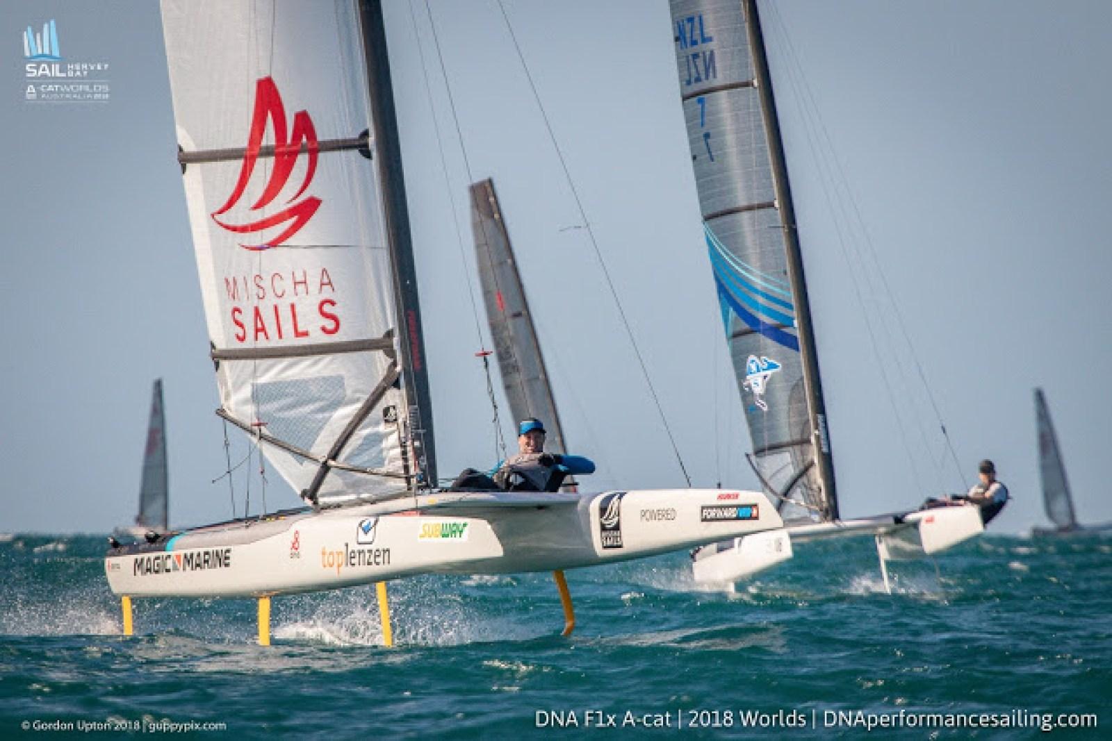 A-Class Worlds 2018 @Hervey Bay: Day 3 – Catamaran Racing , News