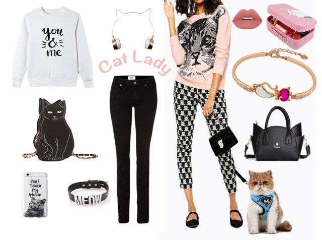 Catoutfit F Cat Lady Outfit Style | Shop the look