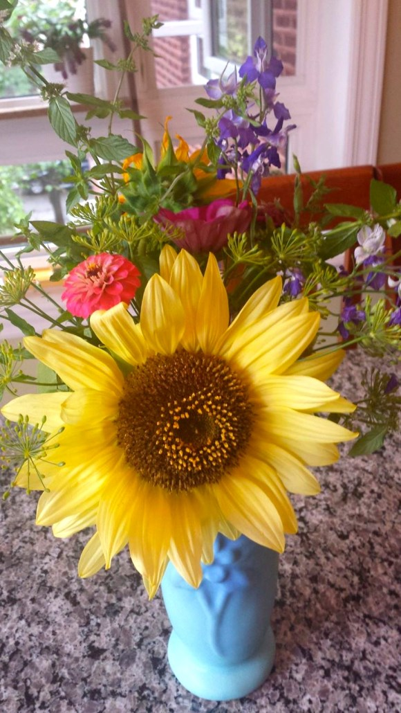 purchased feral flowers bouquet