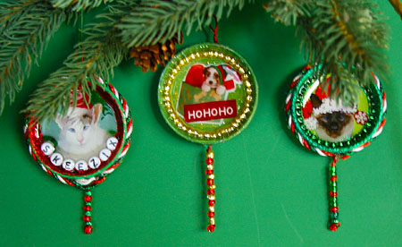 DIY Holiday Cat Crafts Easy Upcycled Holiday Ornaments
