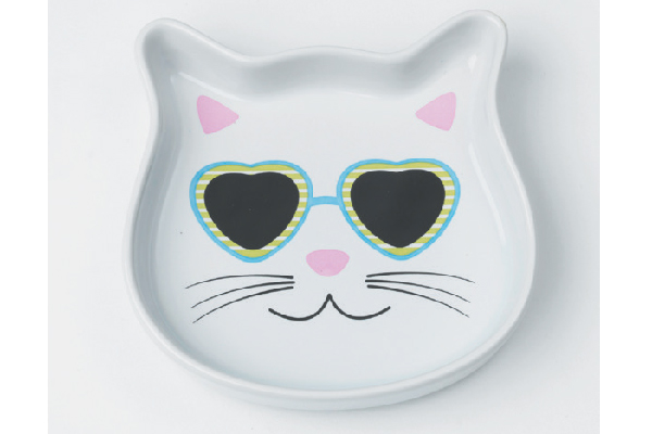 Pet Rageous Stud Kitty & Diva Kitty Cat Saucers.