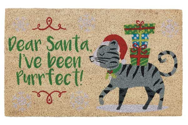 Dear Santa, Purrfect Doormat by Design Imports.
