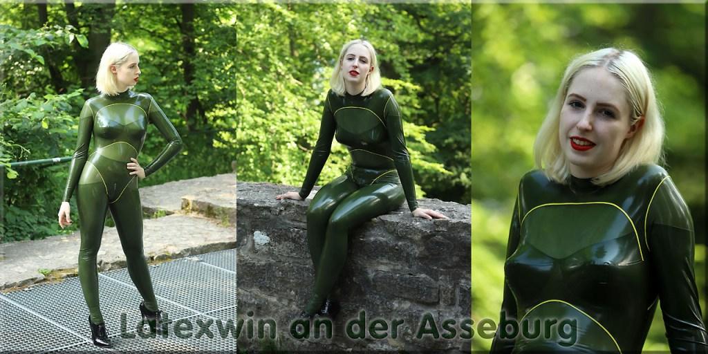 Latexvin in grün