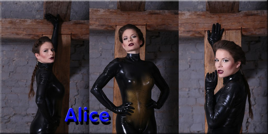 Alice im Catsuit Spinne