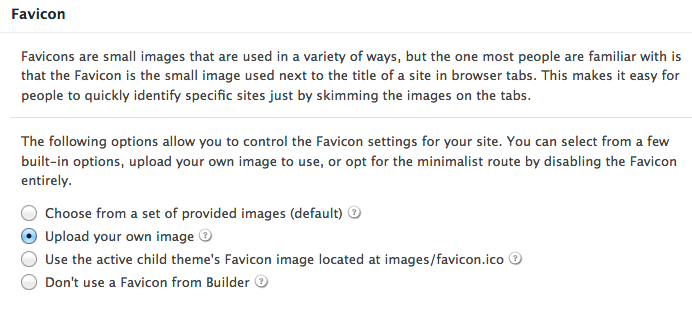 Favicon - iThemes Builder