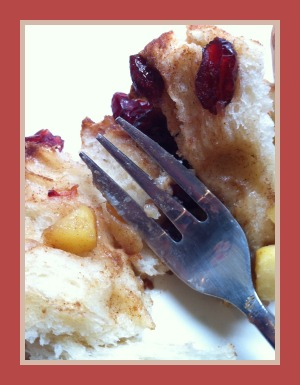 Apple and Cranberry Chelsea Buns