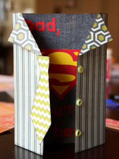super hero fathers day card