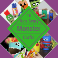 10  Non-scary Monster Crafts for Kids