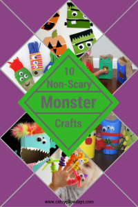 How to make a monster with your kids for Halloween. 10 cute and friendly Monster crafts that won't be too scary for little ones.