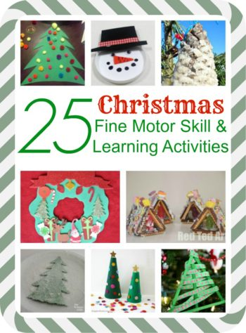 25 Christmas Fine Motor Skill activities and Learning Activities
