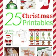 25 Christmas Printables for the Holidays