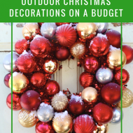 Decorating Outdoors for Christmas on a Budget