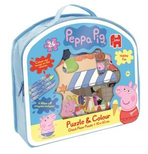 Peppa pig Puzzle and colour set