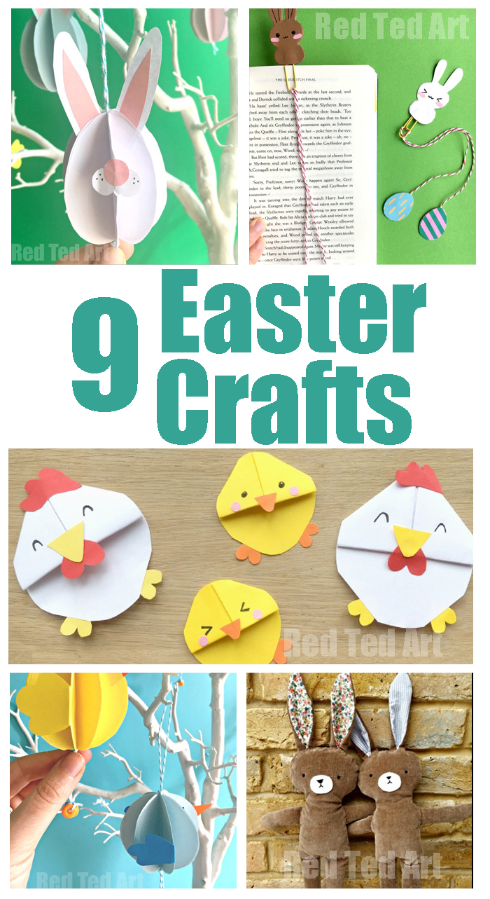9 fabulous easy Easter crafts from the Queen of Craftiness, Maggy from Red Ted Art